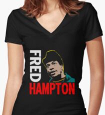 FRED HAMPTON Women's Fitted V-Neck T-Shirt