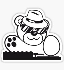 mischpult celebrate dj party music hat hang club disco plate ribbon cool teddy bear sweet Sticker