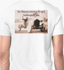 MOTORSPORT, AMERICAN, RACE, RACING, Joe Dawson, winning the 1912, Indianapolis 500, on WHITE Unisex T-Shirt