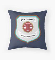 Purgatory Sheriff Department Throw Pillow