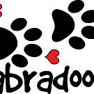 LABRADOODLE DOG PAWS LOVE LABRADOODLES DOG PAW I LOVE MY DOG PET PETS PUPPY STICKER STICKERS DECAL DECALS by MyHandmadeSigns