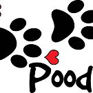 POODLE DOG PAWS LOVE POODLES DOG PAW I LOVE MY DOG PET PETS PUPPY STICKER STICKERS DECAL DECALS by MyHandmadeSigns