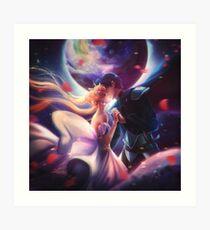 Moon kiss Art Print