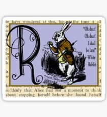 Alice in Wonderland and Through the Looking Glass Alphabet R Sticker