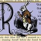 Alice in Wonderland and Through the Looking Glass Alphabet R by Samitha Hess Edwards