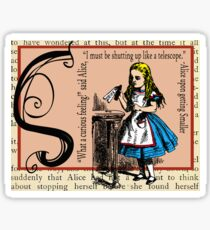 Alice in Wonderland and Through the Looking Glass Alphabet S Sticker