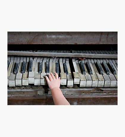 Creepy Piano Baby Photographic Print