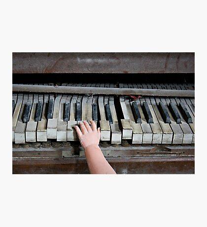 Creepy Piano Baby Photographic Print