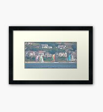 Boats in Water Colour  - Donegal - Buncrana Ireland Framed Print