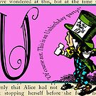 Alice in Wonderland and Through the Looking Glass Alphabet U by Samitha Hess Edwards