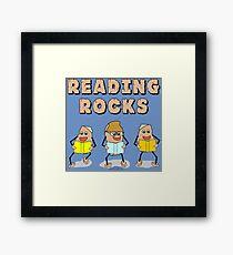 Reading Rocks  Framed Print