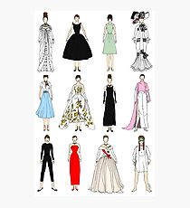 Outfits of Audrey Fashion Photographic Print