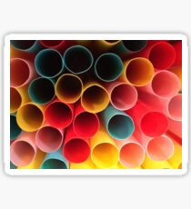Coloured Straws Sticker