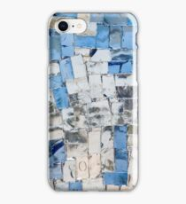 Multicolored stained glass window with blocks iPhone Case/Skin