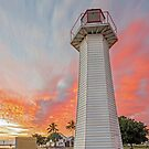 Red Sky in the Morning - Sailors Warning. Cleveland Australia by Beth  Wode