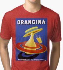 Vintage poster - Orangina Tri-blend T-Shirt