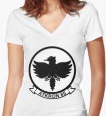 VA-85 Black Falcons Women's Fitted V-Neck T-Shirt