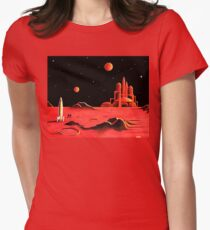CITY ON MARS Womens Fitted T-Shirt