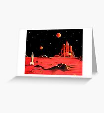 CITY ON MARS Greeting Card