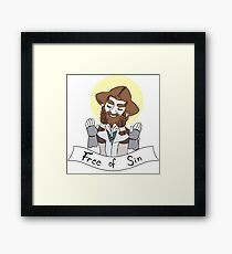 Free of Sin Framed Print