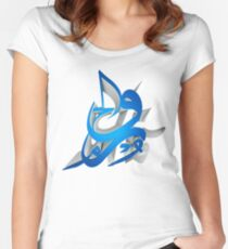 3D Arabic Calligraphy art abstract Women's Fitted Scoop T-Shirt