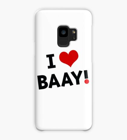 I LOVE BAAY (Black) Case/Skin for Samsung Galaxy