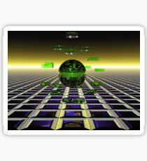 Alien Checkers Sticker