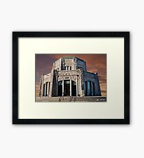 Vista House on Crown Point at Sunset Framed Print
