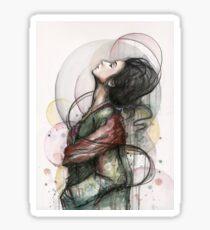 Beauty Illustration Fashion Art Sticker