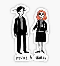 Murder and Skully Sticker