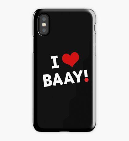 I LOVE BAAY (White) iPhone Case