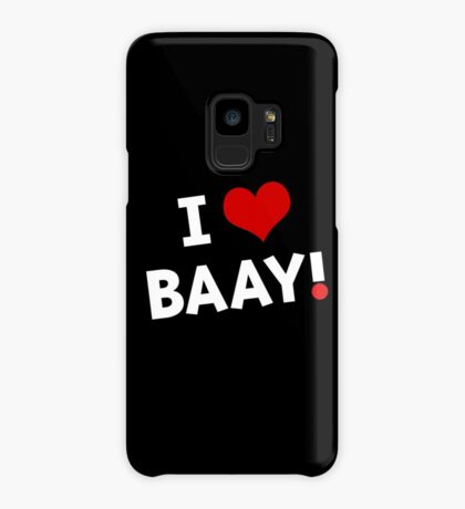 I LOVE BAAY (White) Case/Skin for Samsung Galaxy