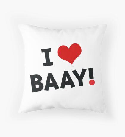 I LOVE BAAY (Black) Throw Pillow