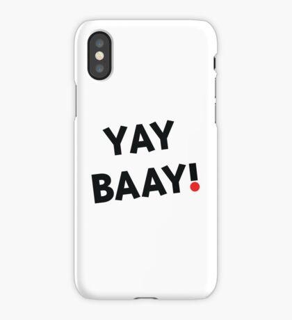 YAY BAAY (Black) iPhone Case
