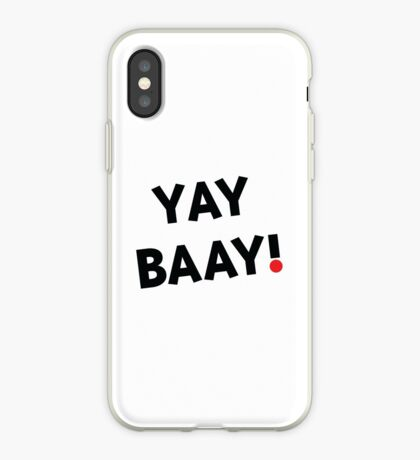 YAY BAAY (Black) iPhone Case