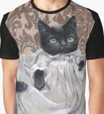 Maurice Edward -Victorian Cat Graphic T-Shirt
