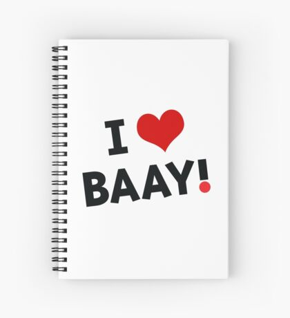 I LOVE BAAY (Black) Spiral Notebook