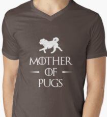 Mother of Pugs - White Men's V-Neck T-Shirt