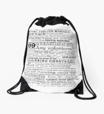 I am your host, your Ghost Host...(Black) Drawstring Bag