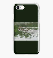 Eleven Duckling's in the Rain iPhone Case/Skin