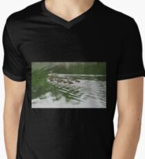 Eleven Duckling's in the Rain Men's V-Neck T-Shirt