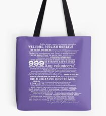 I am your host, your Ghost Host...(White) Tote Bag