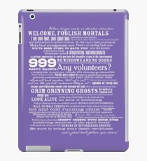I am your host, your Ghost Host...(White) iPad Case/Skin