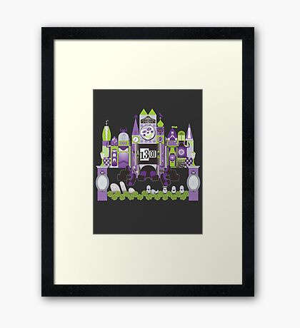 Is This Small World Actually Stretching? (for Darker Rides) Framed Print
