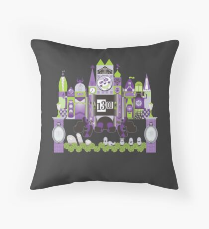 Is This Small World Actually Stretching? (for Darker Rides) Throw Pillow