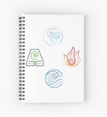 Avatar Elements on White Spiral Notebook