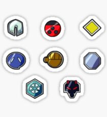 Pokemon Gym Badges: Johto Sticker
