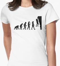 Funny Women's Rock Climbing T Shirt Womens Fitted T-Shirt