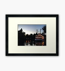 A night on the river Framed Print