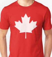 White maple leaf T-Shirt